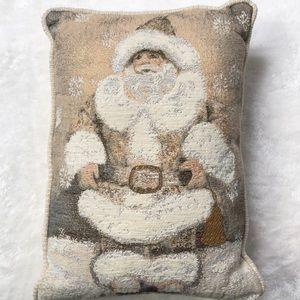 Other - Decorative Santa Christmas holiday pillow